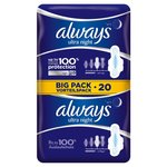 Always Ultra Night Sanitary Towels with Wings 2 x 10 per pack