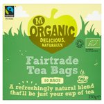 Morrisons Organic Fairtrade Tea Bags 80 per pack