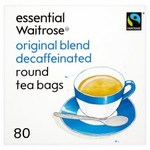 Waitrose Essential Original Blend Decaffeinated Tea Bags x80