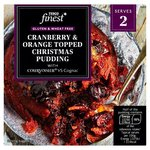 Tesco Finest Free From Cranberry And Orange Topped Christmas Pudding 200G