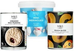 Marks and Spencer Puddings and Desserts