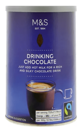 Marks and Spencers Hot Chocolate Drinks