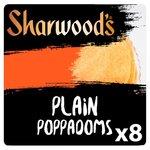 Sharwoods Plain Poppadoms x8
