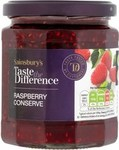 Sainsburys Taste the Difference Raspberry Conserve 340g