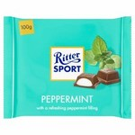Ritter Sport Peppermint Dark Chocolate 100g
