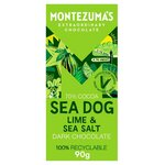 Montezumas Dark with Lime and Sea Salt 90g