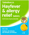 Sainsburys Hayfever and Allergy Relief Tablets x30