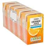 Tesco Pure Orange Juice 5 X 150ml Cartons