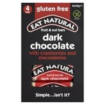 Eat Natural Gluten Free Cranberries Macadamias And Dark Chocolate Bars 4 x 33g