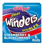 Kelloggs Fruit Winders Doubles Strawberry and Blackcurrant 6 x 17g