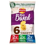 Walkers Baked Variety Crisps 6 pack