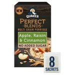 Quaker Oat Perfect Blends Multi Grain Porridge Apple Cinnamon and Raisin 8 x 35g
