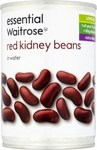 Waitrose Essential Red Kidney Beans in Water 400g