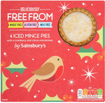 Sainsburys Freefrom Iced Mince Pies 4 Pack