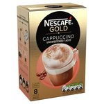 Nescafe Gold Unsweetened Cappuccino 8 Sachets