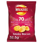 Retail Pack Walkers Smoky Bacon Crisps 32 x 32.5g Pack Box