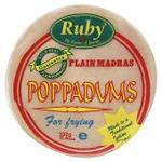 Ruby Plain Madras Poppadums 200g Ready to Fry