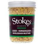 Stokes Cider and Horseradish Mustard 230g