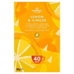 Morrisons Lemon and Ginger 40 Tea Bags