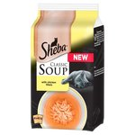 Sheba Soup Pouches Chicken 4X40g