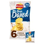 Walkers Baked Cheese and Onion 6 pack