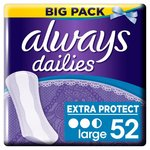 Always Dailies Scented Large Liners Value Pack 52 per pack