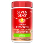 Seven Seas Cod Liver Oil plus Garlic Capsules 90 per pack