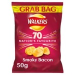 Retail Pack Walkers Grab Bag Smoky Bacon Crisps 32 x 50g Pack Box