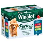 Winalot Perfect Portions Christmas Beef Chicken and Lamb in Jelly Pouch 12 x 100g