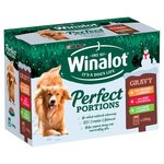 Winalot Perfect Portions Christmas Chicken Beef and Lamb in Gravy Pouch 12 x 100g