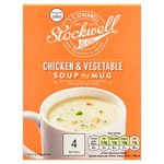Stockwell and Co Chicken And Vegetable Soup In A Mug 4 Pack