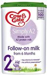Cow and Gate Simple A2 Follow On Milk For Babies 6 Months+ Stage 2 800g