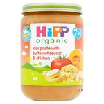 Hipp 7 Month Organic Star Pasta with Butternut Squash and Chicken 190g