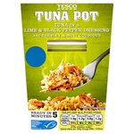 Tesco Tuna Pot Lime And Pepper Dressing With Cous Cous 140G