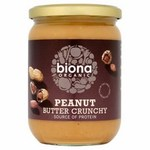 Biona Organic Peanut Butter Crunchy 500g
