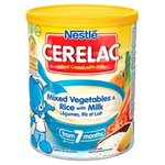 Nestle Cerelac Infant Cereal Mixed Vegetables and Rice with Milk 7 Months 400G