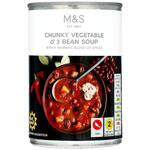 Marks and Spencer Chunky Vegetable and 3 Bean Soup 400g