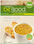 Sainsburys Be Good To Yourself Chicken Noodle Cup Soup 4 Sachets