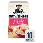 Quaker Oat So Simple Strawberry Raspberry and Cranberry 339g 10 Sachets
