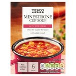 Tesco Minestrone Soup In A Mug And Croutons 5 Pack