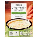 Tesco Vegetable with Croutons Soup In A Mug 5 Sachets 115g