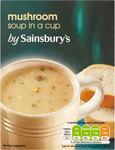 Sainsburys Mushroom Cup Soup 4 Sachets