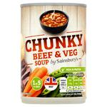 Sainsburys Chunky Beef and Vegetable Soup 400g