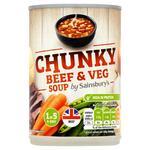 Sainsburys Chunky Beef and Vegetable Soup 400g