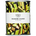 Marks and Spencer Rhubarb Chunks in Light Syrup 560g Tin