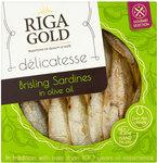Riga Gold Delicatesse Brisling Sardines in Olive Oil 120g