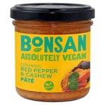 Bonsan Vegan Organic Red Pepper and Cashew Pate 130g