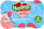 Hartleys Ready To Eat No Added Sugar Strawberry Jelly 6 x 115g