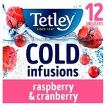 Tetley Cold Infusions Raspberry and Cranberry 12 Pack