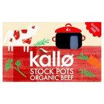 Kallo Organic Beef Stock Pots 4 x 24g